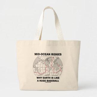 Mid-Ocean Ridges Why Earth Like Huge Baseball Hmr Jumbo Tote Bag