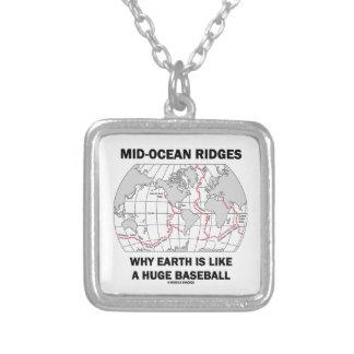 Mid-Ocean Ridges Why Earth Like Huge Baseball Hmr Square Pendant Necklace