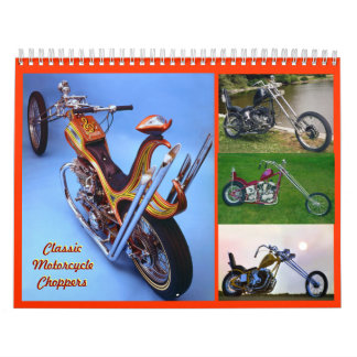 Mid- size Classic Motorcycle Choppers Calendar