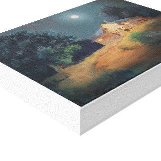 Mid Summer Night Oil Painting Canvas Print