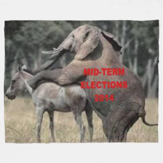 MID-TERM ELECTION 2014 FLEECE BLANKET