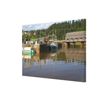 Mid tide at the Bay of Fundy at St. Martins, New Canvas Print