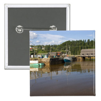 Mid tide at the Bay of Fundy at St. Martins, New Pinback Button