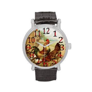 Mida el tiempo para alimentar a los pollos el relojes de pulsera
