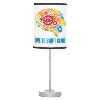Mida el tiempo para desplazar la silueta de los lámpara de mesa