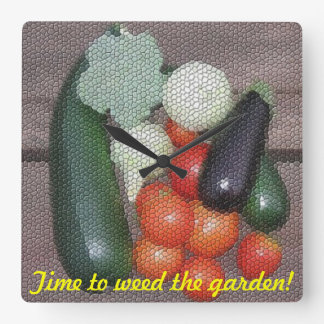 Mida el tiempo para escardar el reloj del jardín