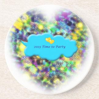 Mida el tiempo para ir de fiesta 2013 Años Nuevos  Posavasos Personalizados