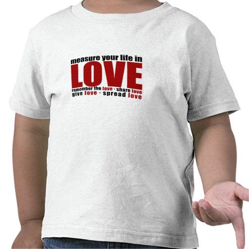 Mida su vida en amor camiseta