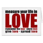 Mida su vida en amor felicitación