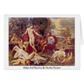 Midas And Bacchus By Nicolas Poussin Card