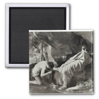 Midas at the source of the River Pactolus 2 Inch Square Magnet
