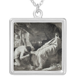 Midas at the source of the River Pactolus Silver Plated Necklace
