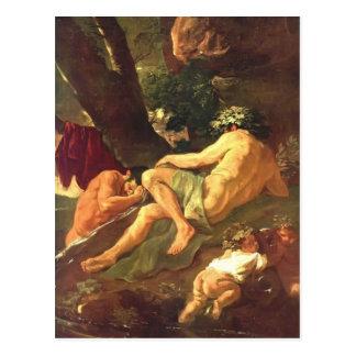 Midas de Nicolás Poussin- que se lava en el río Pa Postal