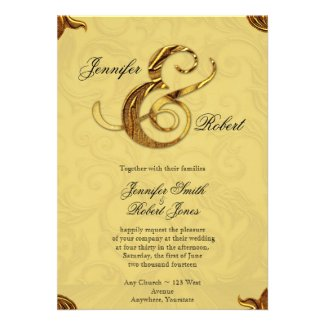 Midas Tuch Gold Wedding Invitation