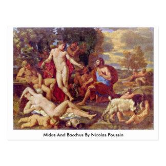 Midas y Bacchus de Nicolás Poussin Tarjetas Postales