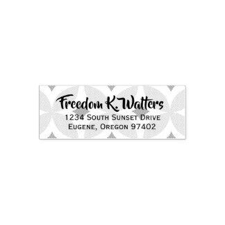 Midcentury Background Basic Name Custom Stamp