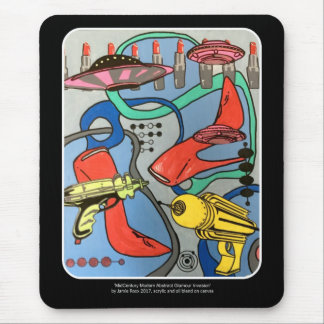'MidCentury Mod Glamour Invasion' painting on a Mouse Pad