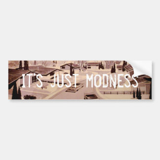 Midcentury Modern Architecture Bumper Sticker