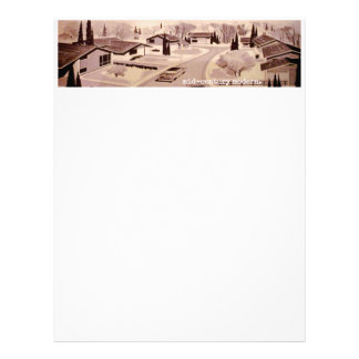 Midcentury Modern Architecture Letterhead