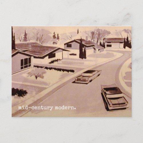 Midcentury Modern Architecture Postcard