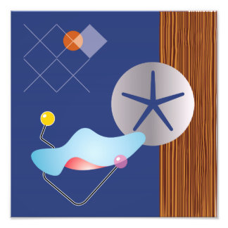Midcentury Modern Design Eames Homage Print