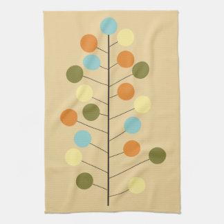 Midcentury modern geometric tree shape hand towel