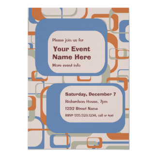 Midcentury Modern Party or Event Invitation