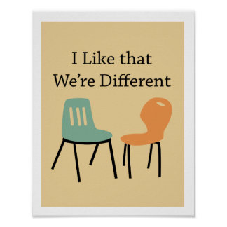 Midcentury modern retro chairs - Different Poster