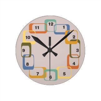 Midcentury Modern Retro Shapes Clock