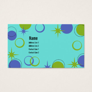 Midcentury Modern Shapes Business Card