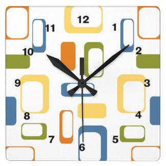 Midcentury Modern shapes clock