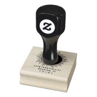 MidCentury Starbusrt Return Address Stamp