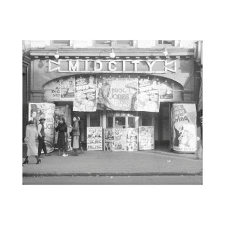 Midcity Movie Theater, 1937 Canvas Print