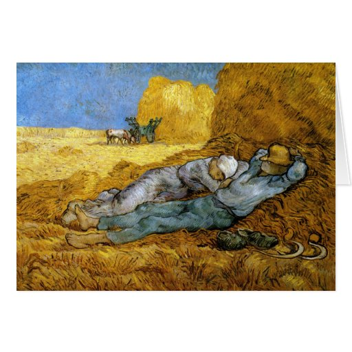 Midday Rest, Vincent Van Gogh Greeting Card