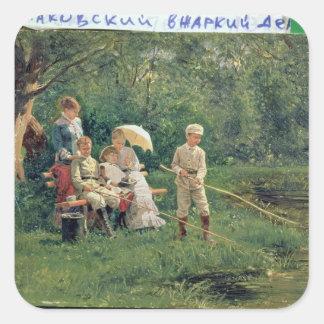Midday Sun, 1881 Square Sticker
