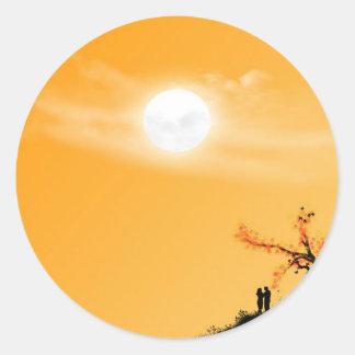 Midday Sun Classic Round Sticker