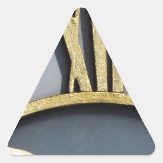 midday triangle sticker