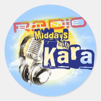 Middays With Kara Logo Stickers