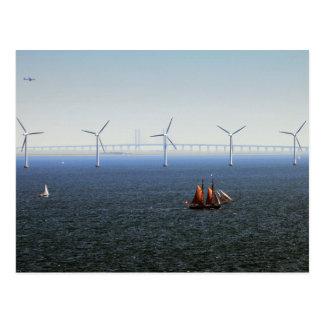 Middelgrunden Wind Farm, Oresund, Denmark Postcard