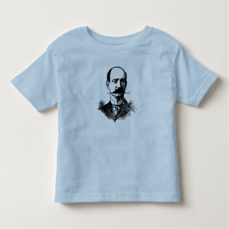 Middle Age Bald Man with Moustache Vintage Toddler T-shirt