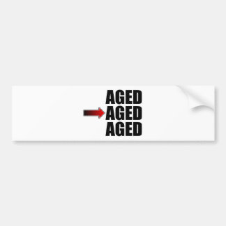 Middle Aged Car Bumper Sticker