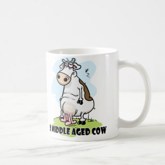 Middle Aged Cow Coffee Mugs