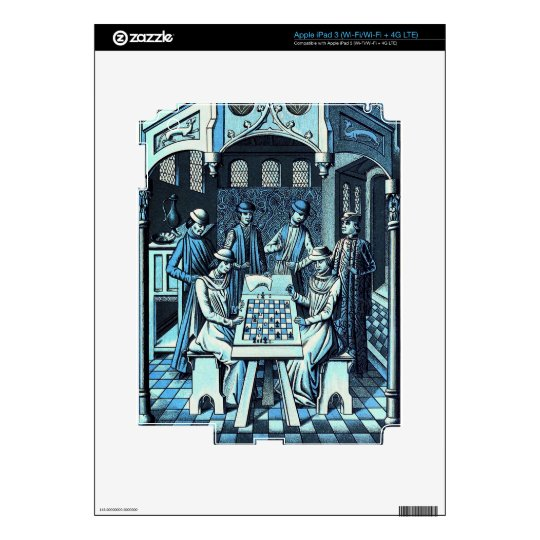 Middle ages Chess Game iPad 3 Decals