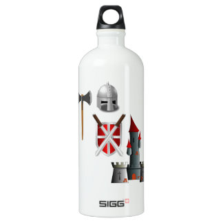 Middle Ages Mash-up Aluminum Water Bottle