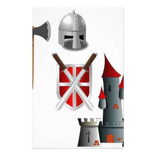 Middle Ages Mash-up Stationery Design