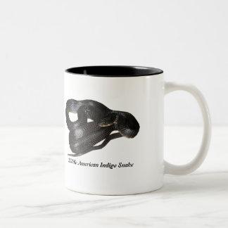 Middle American Indigo Snake Two-Tone Coffee Mug