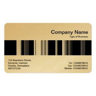 Middle Band - Codex 02 (Gold) Double-Sided Standard Business Cards (Pack Of 100)