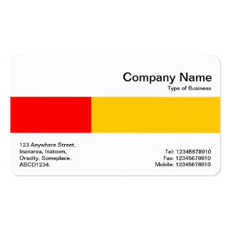 Middle Band - Two Tones - Red and Amber Double-Sided Standard Business Cards (Pack Of 100)