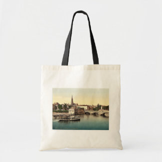 Middle Bridge, Metz, Alsace Lorraine, Germany vint Tote Bags