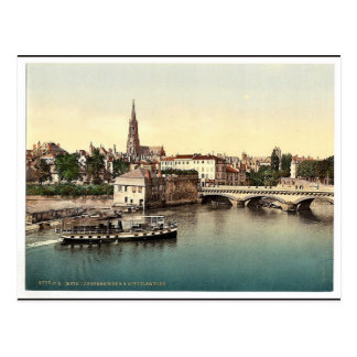 Middle Bridge, Metz, Alsace Lorraine, Germany vint Postcard